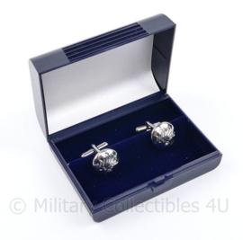 Korps Rijkspolitie manchetknopen paar in doosje - 2,5 x 1,5 cm - origineel