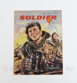 The British Army Magazine Soldier April 1959 - 30 x 22 cm - origineel