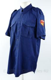 Brandweer overhemd korte mouwen blauw  - maat 41/42 - huidig model - origineel