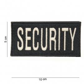 kleding of vest embleem - rechthoekig met klittenband- Security - 10 x 5 cm