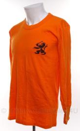 KL Nederlandse leger oranje sportshirt 1988 - lange mouw - maat 7 - origineel
