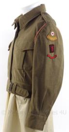 """MVO uniform jasje met rang """"Soldaat der Eerste klasse"""" - """"Rode Kruis"""" met koord - maat 50 - origineel"""
