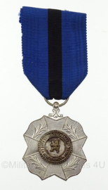 Belgische Leopold medaille - zilver - 10 x 4 cm - origineel