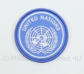 VN UN United Nations embleem - met klittenband - diameter 7,2 cm