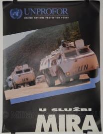 UN United Nations leger kaart Unprofor MIRA - 50 x 67 cm - origineel