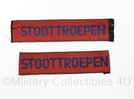 MVO straatnaam paar Stoottroepen - 8 x 2 cm - origineel
