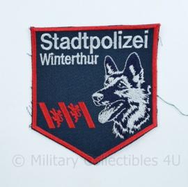 Zwitserse Stadtpolizei Winterthur embleem - 9,5 x 10 cm -  origineel