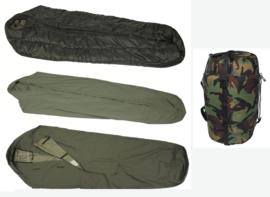 KL Slaapzak set M90 Landmacht KL - met Goretex hoes, tas en lakenzak- tot -30 graden en topstaat!  - origineel