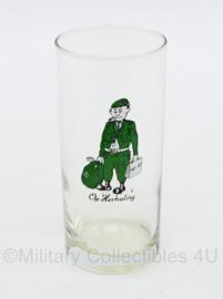 Defensie long drink glas jaren 70 a 80 - Op Herhaling - gebruikt - 13 x 6 cm - origineel