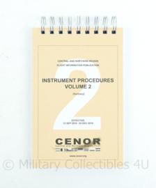 Zeldzaam instrument procedures volume 2 Cenor - versie eind 2019- 21,5x13x1,5cm - zo goed als nieuw!