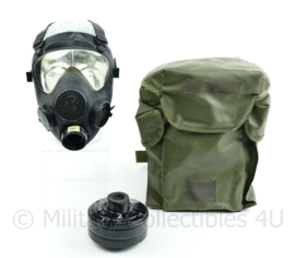 Modern Assault corona gasmasker leger French Army ANP VP F1 gas mask  gasmasker met  filter in Groene tas - origineel