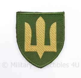Ukrainian Army patch emblem Flag Cossack Sables Yellow on Green - met klittenband  - 8,5 x 7 cm - origineel