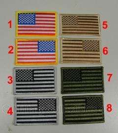 US uniform vlaggen - stof - 4 soorten - links of rechts - prijs per stuk