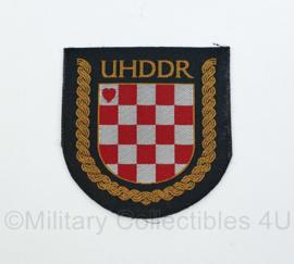 Kroatisch embleem UHDDR patch War Volunteers Association  - origineel