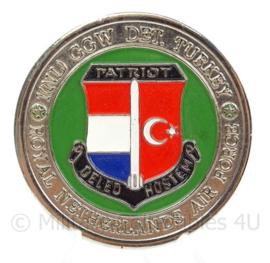 KLu Luchtmacht Coin 1 NL GGW Groep Geleide Wapens Det. Turkey - doorsnede 4,3 cm - origineel