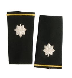 US Army schouderstukken epauletten Lieutenant Colonel - Class A wit op groen - origineel US Army