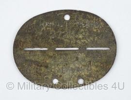 Duits WO II Erkennungsmarke HMA Topchin Heeres Munition Anstalt - Origineel