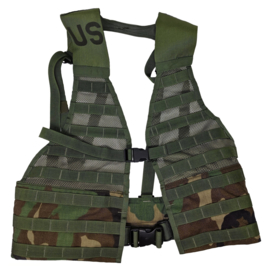 US ARMY Molle II fighting load carrier vest - met gespen - Woodland - origineel US Army