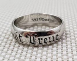 SS Ring SS totenkopf ring - Meine Ehre Heißt Treue - replica - size 8, 9 of 10