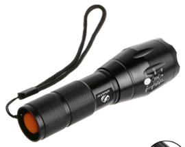 Oplaadbare L2 LED light complete set - 5 standen - zwart - lengte 12,5 cm - nieuw gemaakt