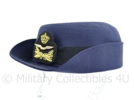 KLU Luchtmacht Dames hoed -nieuwste huidige model - onderofficier -maat 60  - origineel