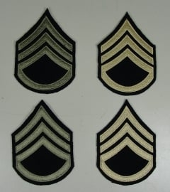 Staff Sergeant rangen set (4 strepen)  - wool base - groen of khaki