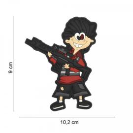 Young Offender embleem 3D PVC - met klittenband - 9 x 10,2 cm