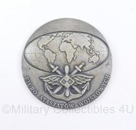 Poolse Luchtmacht coin Ministerstwo Obrony Narodowej RP - Biuro Ataszatow Wojskowych - diameter  7 cm - origineel
