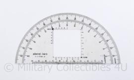 Defensie rekenschijf / gradenboog voor kaarten CWI - 15 x 7,5 cm - origineel