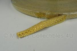 Marine artillerie Litze - glanzend goud metaaldraad - 1 meter