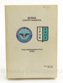 Handboek Bosnia Country handbook IFOR DOD-154017-96 May 1996- origineel