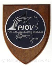 Nederlandse Politie wandbord - PIOV Politie Instituut - 18 x 14 cm - origineel