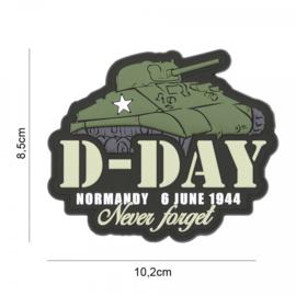 D-Day Sherman embleem 3D PVC - met klittenband - 8,5 x 10,2 cm