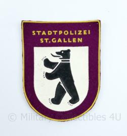 Zwitserse Stadtpolizei ST Gallen embleem  - 6,5  x 9 cm - origineel