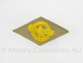 Honorable Discharge Emblem (The Ruptured Duck) - Khaki - origineel WO2 US Army