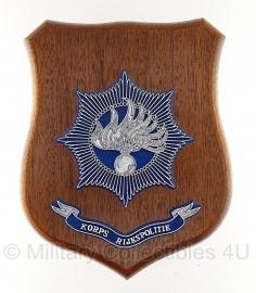 Korps Rijkspolitie wandbord - origineel