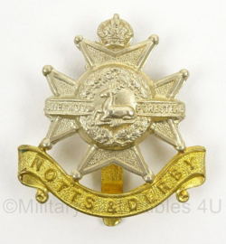 WO2 Britse pet of baret insigne Notts and Derby Sherwood Foresters - afmeting 4,5 x 5 cm - origineel