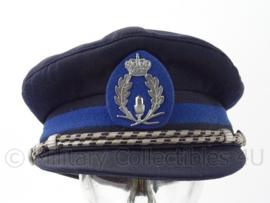 Belgische Politie platte pet met insigne - oud model - maat 57 - origineel