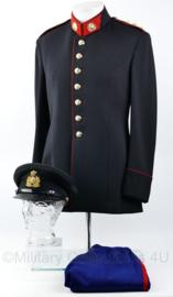 KL GLT Officiers gala tenue jas met broek en pet van 1 persoon - Oranje Gelderland  - maat 48 - rang Kapitein - origineel
