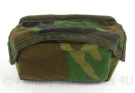KM Marine Korps Mariniers opbouwtas borst met rits voor OPS vest forest camo - afmeting 15 x 9 x 5 cm - origineel