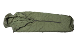 Korps Mariniers dons slaapzak M80 - maat XL = max 210 cm - met lakenzak - topstaat - ZELDZAAM in deze staat - origineel