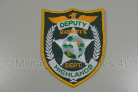 Highlands Deputy Sheriff Dept patch - origineel