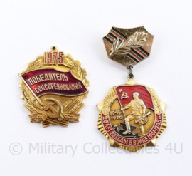 Russische USSR spelden set  - set van 2 stuks - origineel