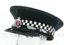 Britse politie pet met insigne - Essex Police - hoge rang met band op klep - maat 59 - origineel