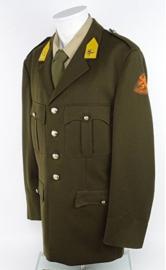 KL Nederlandse leger DT oud model uniform jas met insignes - maat 51 DK - origineel