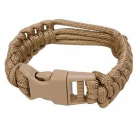 Paracord Horloge armband COYOTE - meerdere maten