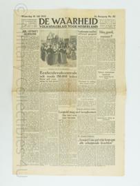 Krant de Waarheid - 18 juli 1945 - origineel