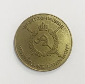KL Nederlandse leger LO Sportcommissie Koninklijke landmacht medaille Coin - diameter 4 cm - origineel