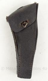 Fiets reparatie tasje - zwart leder - origineel