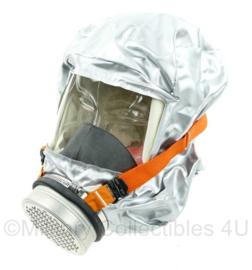 Gasmasker - zilver/oranje - NIEUW - origineel